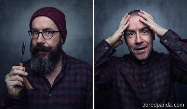 Sửng sốt với loạt ảnh nhan sắc đàn ông thay đổi bất ngờ trước và sau khi cạo râu - Ảnh 3.