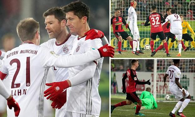 Lewandowski đi vào lịch sử trong chiến thắng nhọc nhằn của Bayern Munich - Ảnh 3.