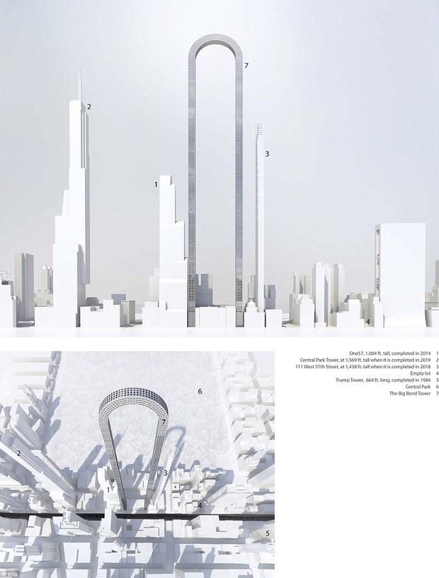 Hé lộ thiết kế tòa nhà hình chữ U phá bỏ mọi kỷ lục về chiều cao trên thế giới của Mỹ - Ảnh 2.