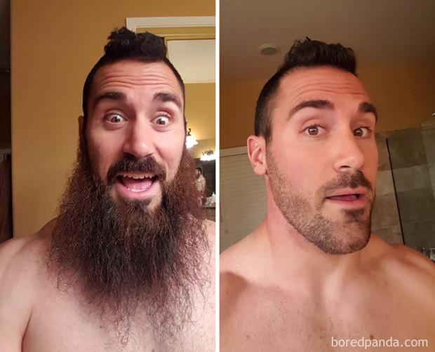 Sửng sốt với loạt ảnh nhan sắc đàn ông thay đổi bất ngờ trước và sau khi cạo râu - Ảnh 21.