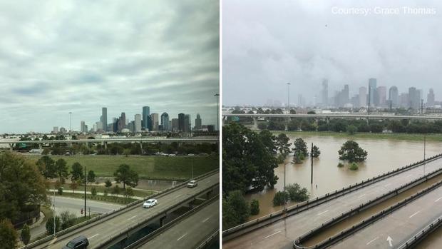 Chùm ảnh trước - sau cho thấy hậu quả kinh hoàng mà siêu bão mạnh nhất thập kỷ gây ra cho nước Mỹ - Ảnh 9.