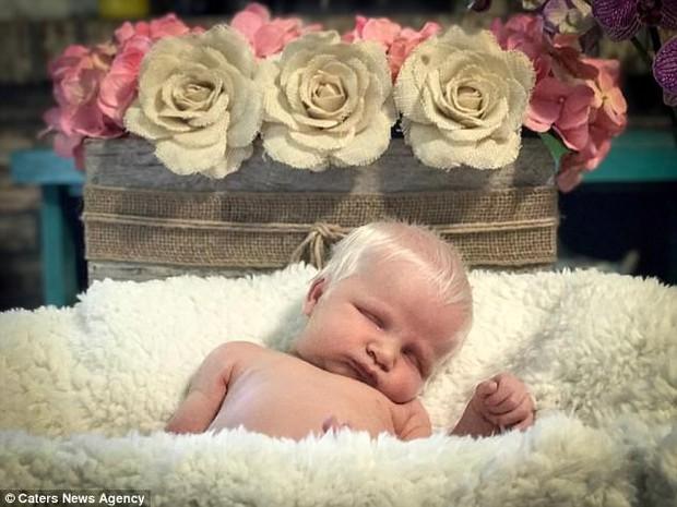 Gặp gỡ em bé có mái tóc bạch kim giống các vị thần trong truyền thuyết - Ảnh 2.