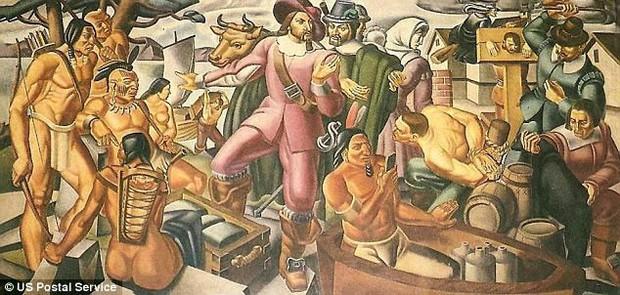 Bằng chứng mới về xuyên không? Người thổ dân cầm iPhone trong bức tranh vẽ từ 100 năm trước - Ảnh 1.