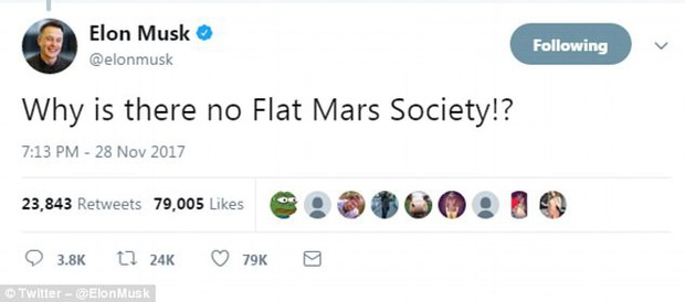 Chỉ bằng 1 câu nói, Elon Musk khiến hội tin vào thuyết Trái đất phẳng trở nên thật nực cười - Ảnh 2.