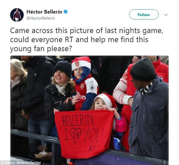 Sao Arsenal kêu gọi giúp đỡ tìm fan nhí dễ thương - Ảnh 2.