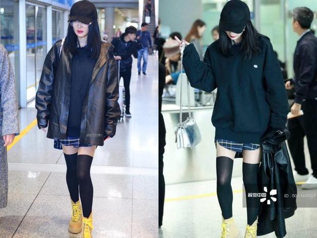 Những màn khoe chân đỉnh cao chứng minh: Dương Mịch chính là nữ hoàng sân bay số 1 Cbiz! - Ảnh 14.