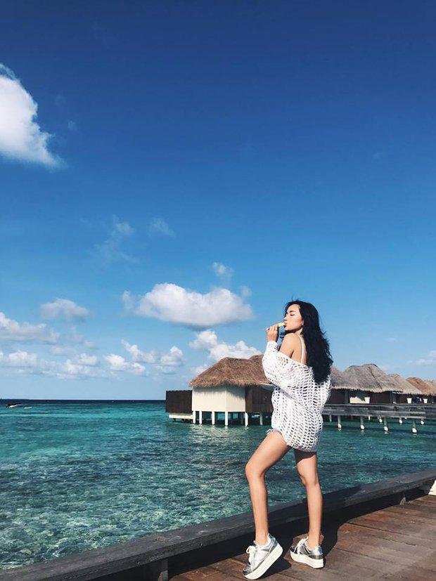 Tưởng đến Maldives nghỉ dưỡng, nào ngờ Châu Bùi được làm gương mặt thương hiệu cho Reebok - Ảnh 9.