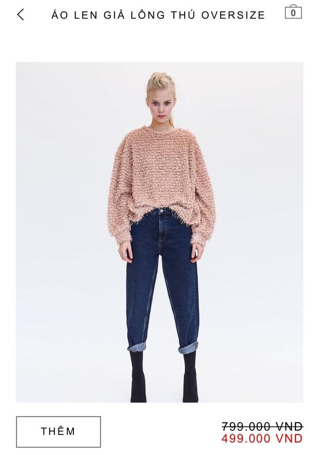 14 mẫu áo len, áo nỉ dưới 500.000 VNĐ trendy đáng sắm nhất đợt sale này của Zara - Ảnh 2.