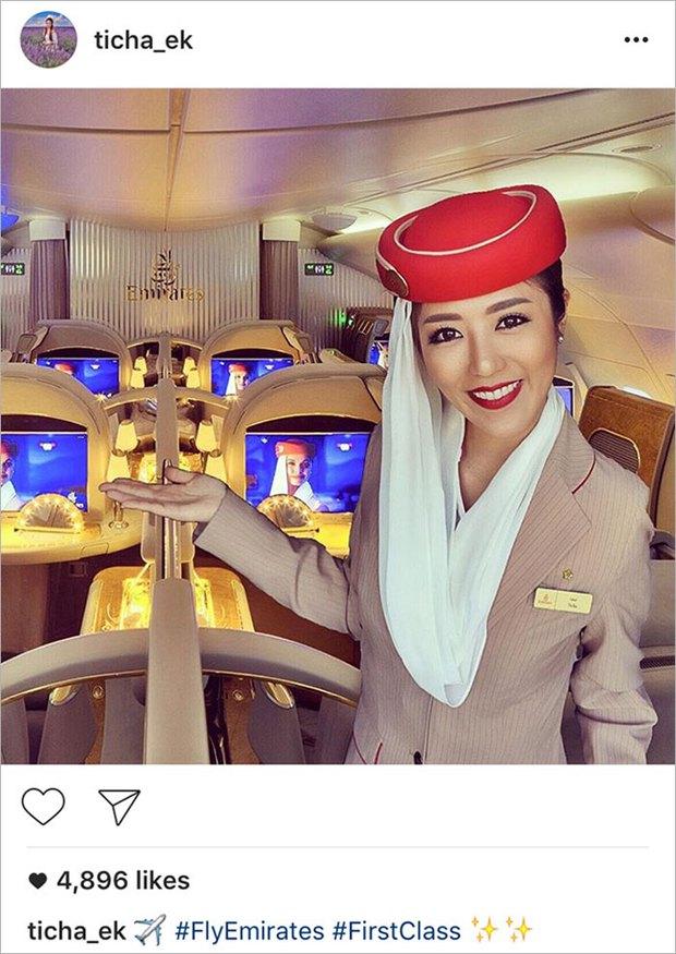 Sống ảo, nữ tiếp viên hàng không ăn cắp ảnh rồi ghép hình mình vào để khoe khoang - Ảnh 6.