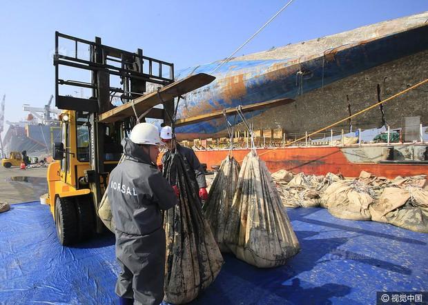 Những di vật được tìm thấy trong xác phà Sewol sau 3 năm chìm dưới đáy đại dương - Ảnh 7.