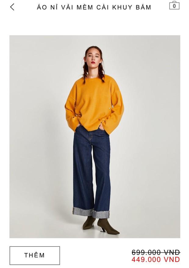 14 mẫu áo len, áo nỉ dưới 500.000 VNĐ trendy đáng sắm nhất đợt sale này của Zara - Ảnh 7.
