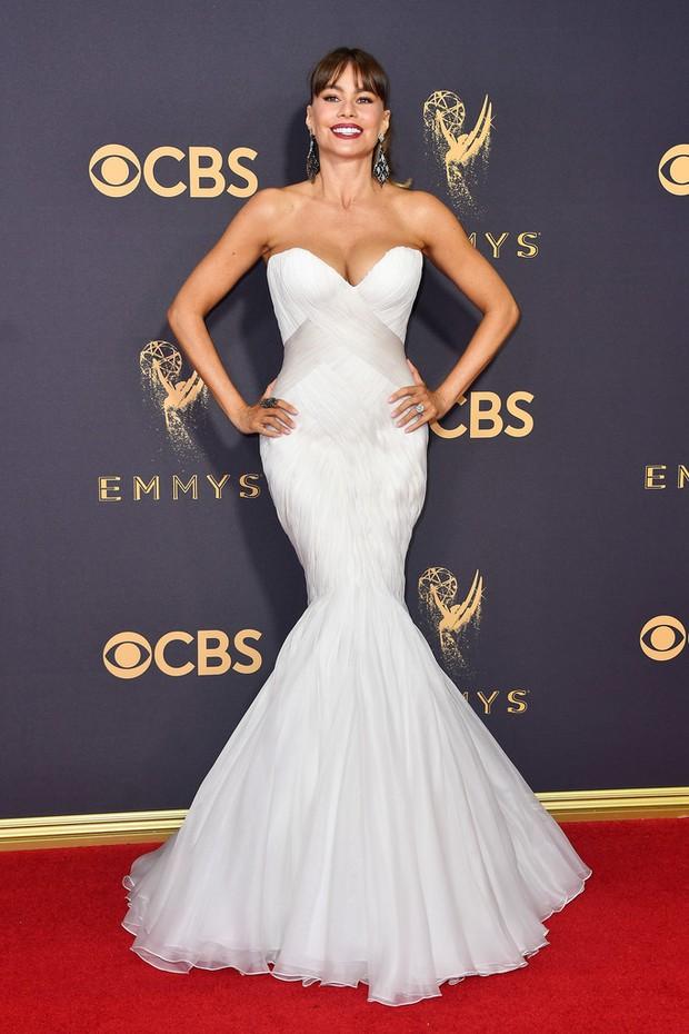 Thảm đỏ Emmy 2017: Dàn mỹ nhân xúng xính váy áo lộng lẫy như những công chúa, bà hoàng trong cổ tích - Ảnh 1.