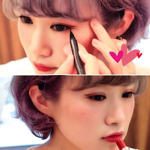 Trong khi bạn còn đang kẻ mắt mèo thì con gái Nhật đã chuyển sang kiểu kẻ mắt siêu đơn giản mà hay ho này - Ảnh 6.