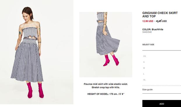 Bộ váy này đang được con gái Việt diện suốt trên Instagram, chứng tỏ gingham là hot trend phá đảo Hè 2017 - Ảnh 7.