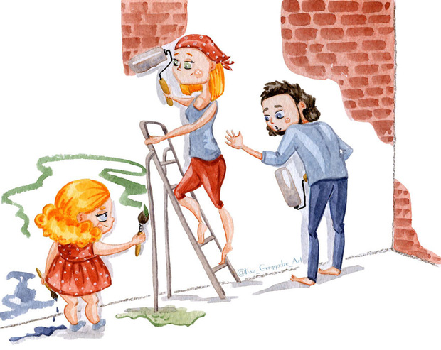 Bộ tranh: Vì con gái nhỏ, mẹ sẽ làm tất cả - Ảnh 13.