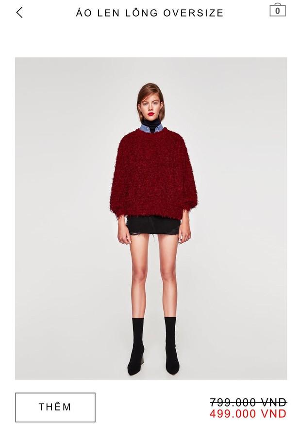 14 mẫu áo len, áo nỉ dưới 500.000 VNĐ trendy đáng sắm nhất đợt sale này của Zara - Ảnh 5.