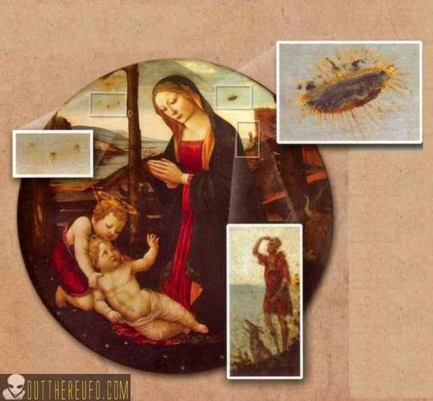 Nghi vấn người ngoài hành tinh xuất hiện trong những kiệt tác hội họa thế giới - Ảnh 4.