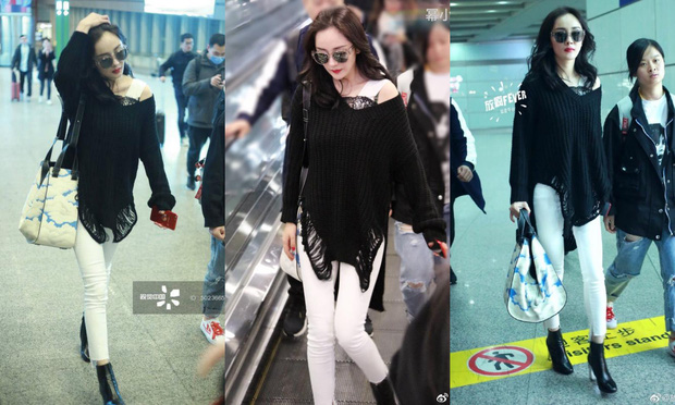 Những màn khoe chân đỉnh cao chứng minh: Dương Mịch chính là nữ hoàng sân bay số 1 Cbiz! - Ảnh 17.