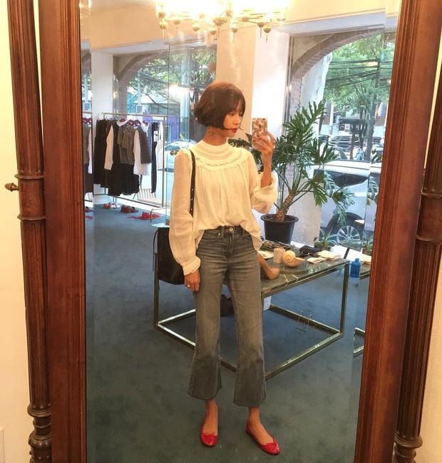Thu này nếu định sắm thêm giày, bạn nhất định nên chọn giày búp bê màu đỏ vì nó sắp thành hot trend đến nơi rồi! - Ảnh 5.