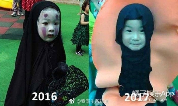 Sau màn hóa trang khiến người ta cười lăn lộn, cô bé Vô Diện nổi nhất dịp Halloween năm ngoái lại tái xuất rồi - Ảnh 2.