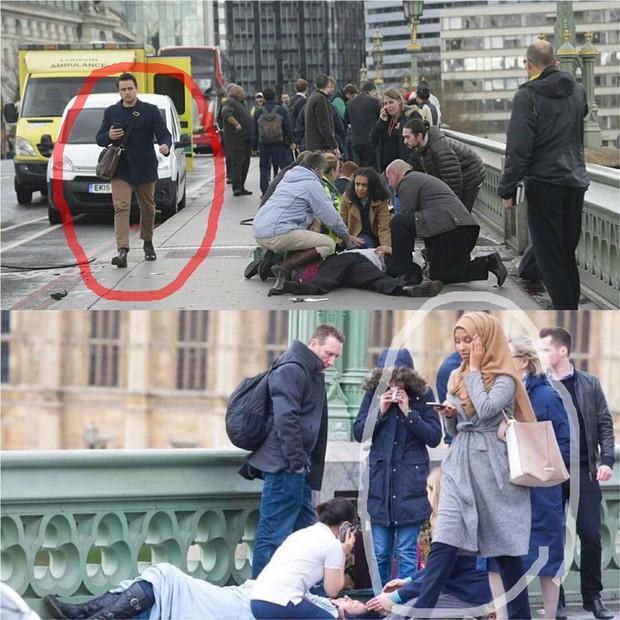 Bức ảnh vạch trần sự phiến diện của làn sóng chỉ trích người phụ nữ Hồi giáo trong bức ảnh nạn nhân vụ khủng bố - Ảnh 2.