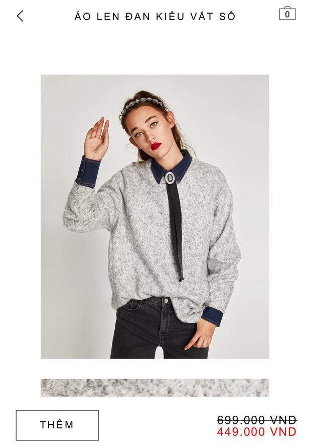 14 mẫu áo len, áo nỉ dưới 500.000 VNĐ trendy đáng sắm nhất đợt sale này của Zara - Ảnh 8.