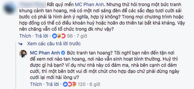 MC Phan Anh nói về việc bán kết Hoa hậu Hoàn vũ Việt Nam vẫn diễn ra trong lúc cơn bão Damrey hoành hành: Hủy thì được gì? - Ảnh 3.