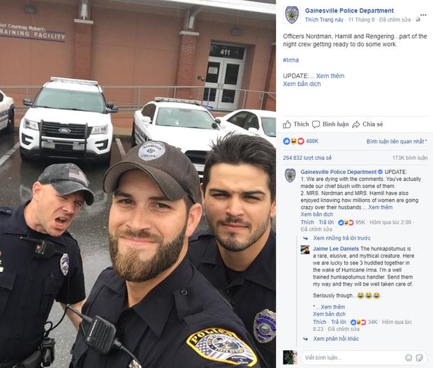 Điện thoại sở cảnh sát Mỹ cháy máy, nhưng không phải vì bão Irma mà bởi 3 chàng nhân viên siêu hot cùng xuất hiện trong 1 khung hình - Ảnh 1.