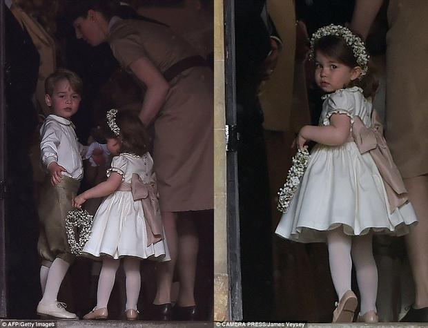 Hoàng tử nhí George và em gái cực đáng yêu trong vai trò phù dâu cho dì Pippa Middleton - Ảnh 2.