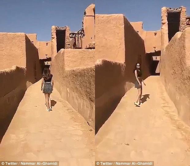 Người mẫu Ả Rập Saudi bị truy tìm vì mặc váy ngắn và áo hở rốn đi lại trong khu di tích lịch sử - Ảnh 2.