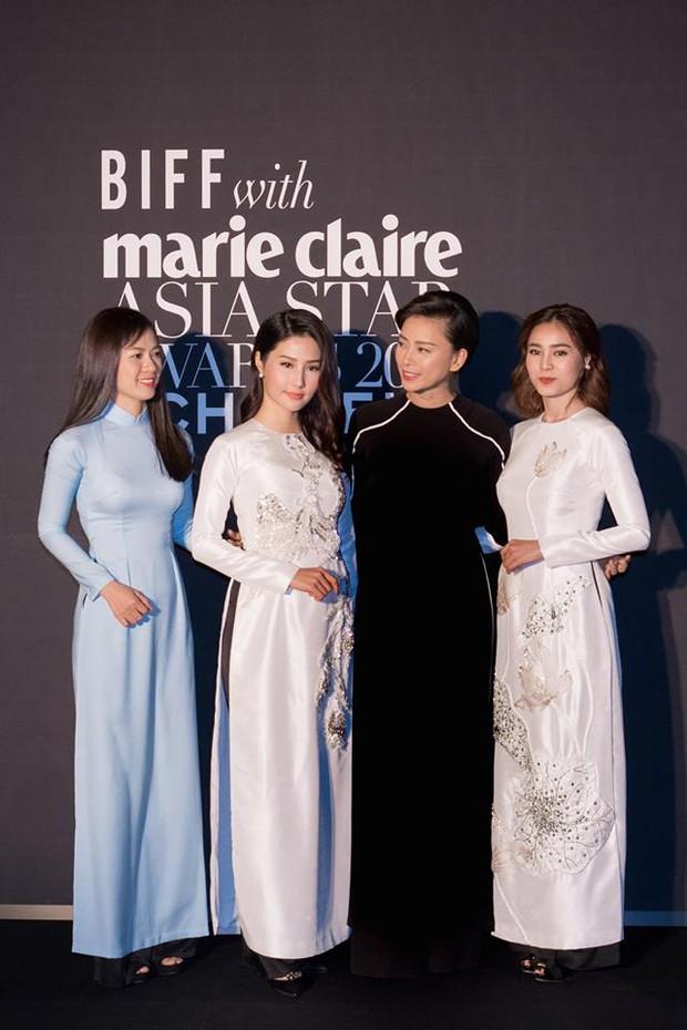 Đâu cần cầu kì hay hở bạo, chỉ cần mặc áo dài mà bộ tứ Cô Ba Sài Gòn cũng đủ gây ấn tượng tại LHP Busan - Ảnh 4.