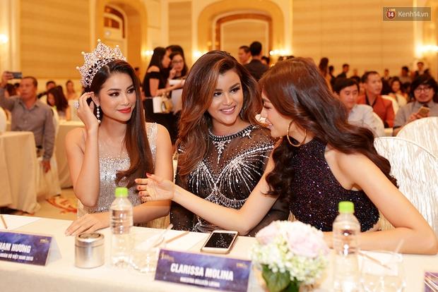 Họp báo show thực tế Hoa hậu Hoàn vũ: Phạm Hương đọ sắc với Nữ hoàng sắc đẹp Mỹ Latinh - Ảnh 3.
