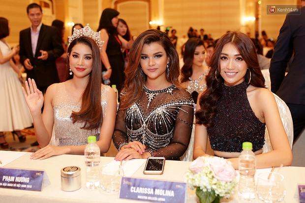 Họp báo show thực tế Hoa hậu Hoàn vũ: Phạm Hương đọ sắc với Nữ hoàng sắc đẹp Mỹ Latinh - Ảnh 4.