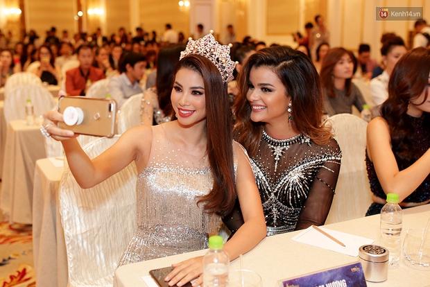 Họp báo show thực tế Hoa hậu Hoàn vũ: Phạm Hương đọ sắc với Nữ hoàng sắc đẹp Mỹ Latinh - Ảnh 5.