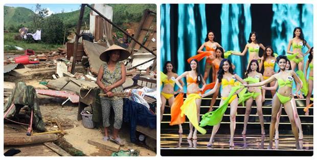 VTV nói gì khi vẫn truyền hình trực tiếp Hoa hậu Hoàn vũ Việt Nam 2017 lúc cả nước đau lòng vì bão lũ? - Ảnh 1.
