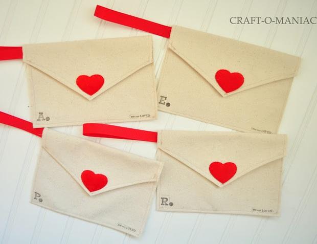 Làm phong bì vải dễ thương trao gửi thông điệp yêu thương ngày Valentine - Ảnh 8.