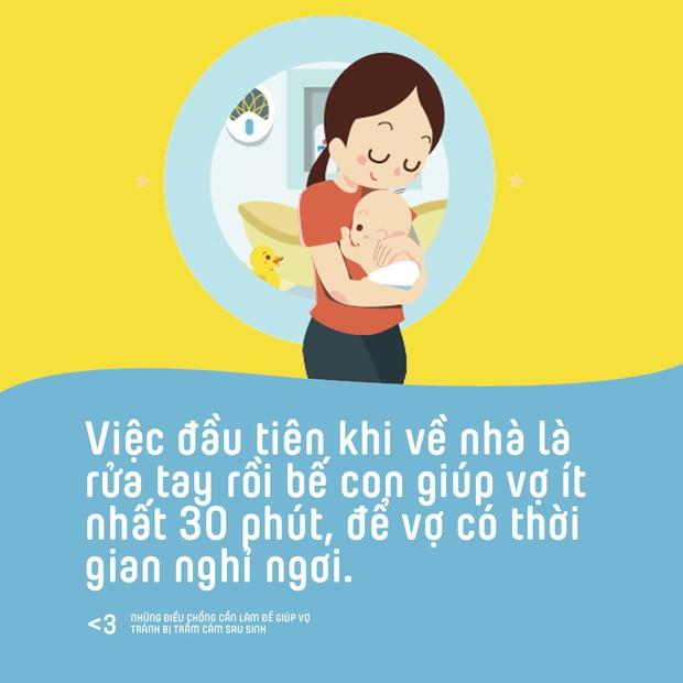 Những điều chồng cần làm để giúp vợ phòng tránh bị trầm cảm sau sinh - Ảnh 3.