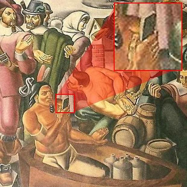 Bằng chứng mới về xuyên không? Người thổ dân cầm iPhone trong bức tranh vẽ từ 100 năm trước - Ảnh 2.