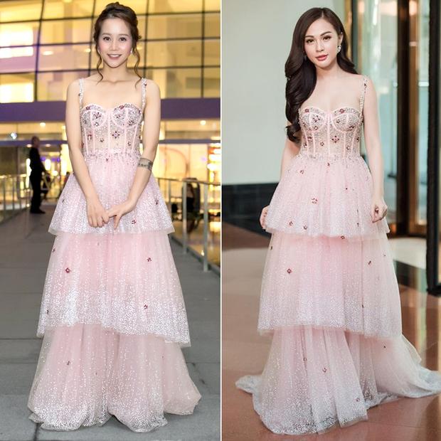 An Nguy hai lưng và Kelly Nguyễn gợi cảm, ai diện chiếc đầm hồng công chúa xinh hơn? - Ảnh 7.