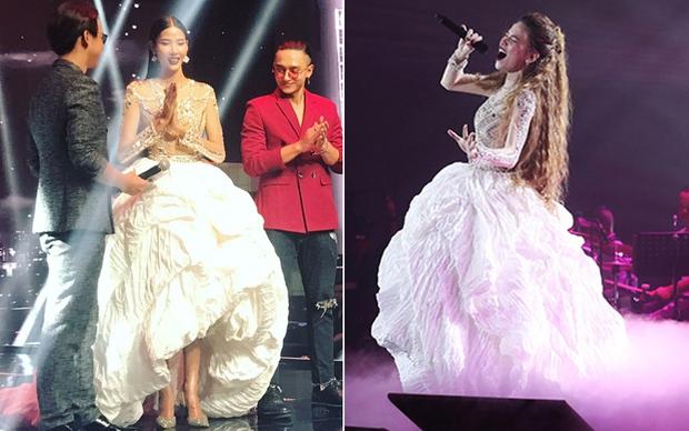 Chung kết The Face: Hoàng Thùy đụng hàng chiếc váy ấn tượng nhất trong liveshow mới của Hà Hồ - Ảnh 5.
