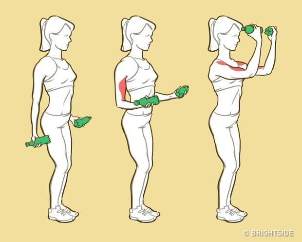 6 động tác cứu nguy cho các cô nàng bắp tay chảy mỡ lấy lại sự thon gọn - Ảnh 1.