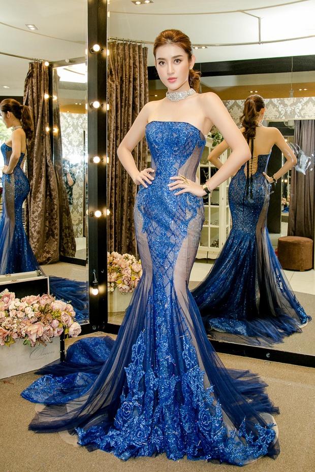 Huyền My xinh đẹp, lộng lẫy như công chúa trong buổi thử váy dạ hội, áo dài cho Miss Grand International2017 - Ảnh 7.