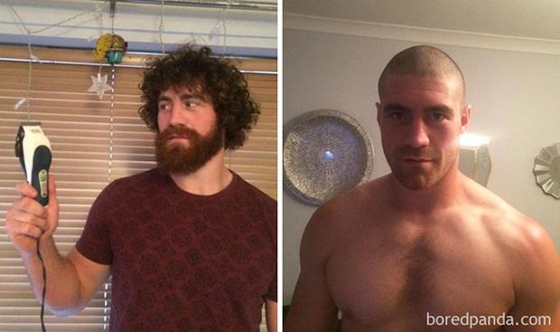 Sửng sốt với loạt ảnh nhan sắc đàn ông thay đổi bất ngờ trước và sau khi cạo râu - Ảnh 13.