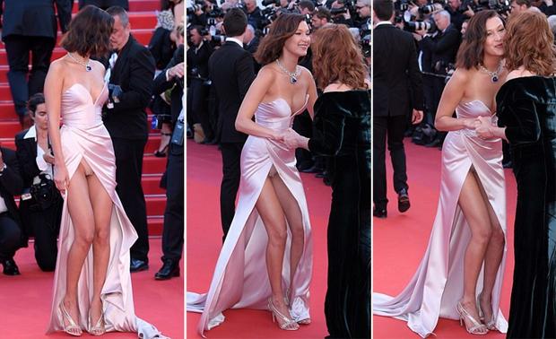 Hết lộ nội y, Bella Hadid lại quay clip sàm sỡ vòng 1 sao nữ tại LHP Cannes - Ảnh 7.
