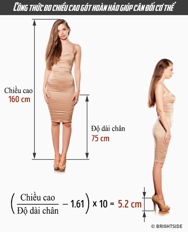 Giúp bạn tính chiều cao của giày cao gót phù hợp với mình để không còn bị đau chân - Ảnh 2.