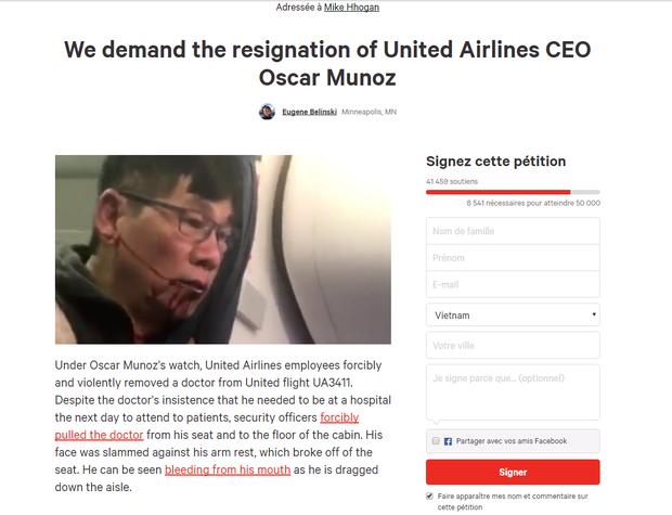 Hơn 40.000 người ký tên yêu cầu CEO của hãng United Airlines từ chức - Ảnh 1.