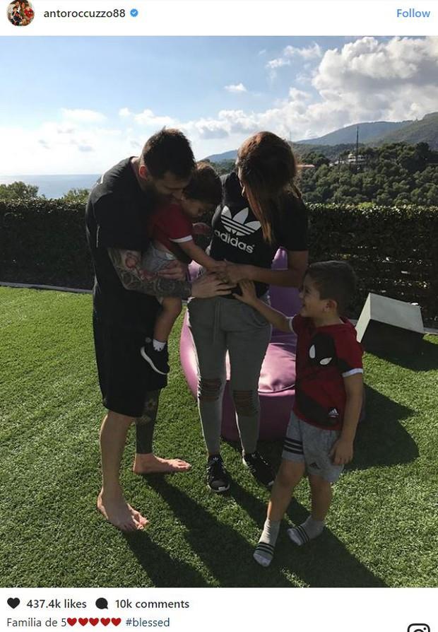 Vợ chồng Messi hạnh phúc thông báo sắp đón con thứ 3, mong chờ một cô công chúa - Ảnh 1.