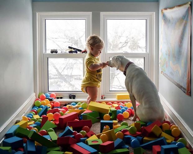Tình bạn ấm áp của em bé và chú chó từng là nạn nhân của nạn bạo hành động vật - Ảnh 27.