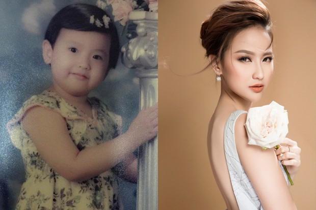 Hoa hậu Hoàn cầu 2017 Khánh Ngân hé lộ ảnh thơ ấu cực đáng yêu