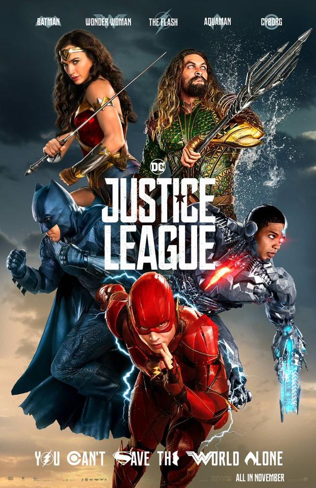 Fan hoang mang khi thấy poster mới xuất hiện của Justice League xấu đau đớn - Ảnh 1.